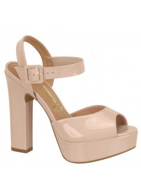 sandalia feminina vizzano meia pata bege