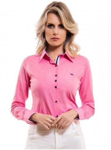 camisa premium rosa principessa norah fio egipcio look