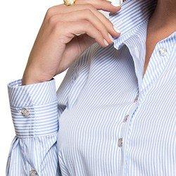 detalhe camisa social premium listrada principessa ivanna gola punho
