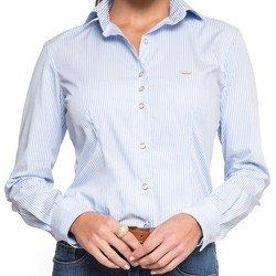 detalhe camisa social premium listrada principessa ivanna look modelagem