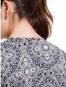 vestido manga curta principessa leiliane estampado soltinho com elastico placa metal