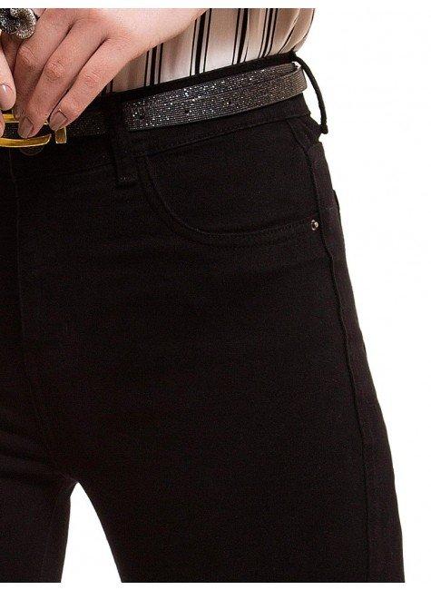 9ec114e5c ... look costa  calca jeans flare media preta denim zero dz2516 bolso ...