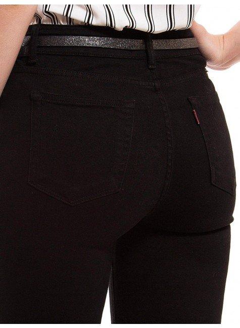 16457d8da ... calca jeans flare media preta denim zero dz2516 bolso costa ...