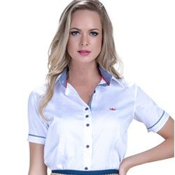 camisa manga 3 4 fio egipcio principessa milena punho gravataria detalhes