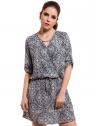 vestido com elastico meia manga estampado principessa leiliane look