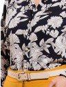 camisa social estampada floral principessa tayane botao