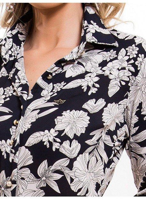 ... camisa social estampada floral principessa tayane logo ... e61060bc35