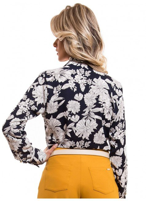... camisa social estampada floral principessa tayane look costa ... 7ab5502357