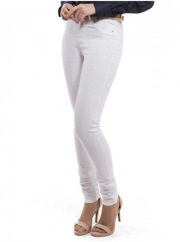calca principessa jeans denim branca