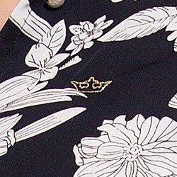 camisa social estampada floral principessa tayane detalhe coroa lurex