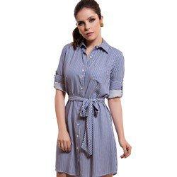 vestido chemise listrado principessa belinda detalhe modelagem