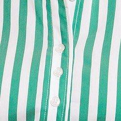 camisa feminina listrada verde principessa shirlene botao triplo