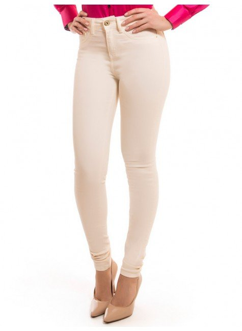 calca feminina colorida skinny media dz2560 fechamento look