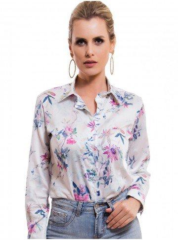 camisa social floral fio egipcio principessa lavinia look