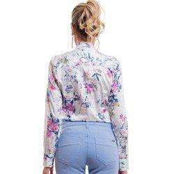 detalhe camisa social floral fio egipcio principessa lavinia modelagem