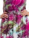 vestido longo estampado principessa soraia elastico contura