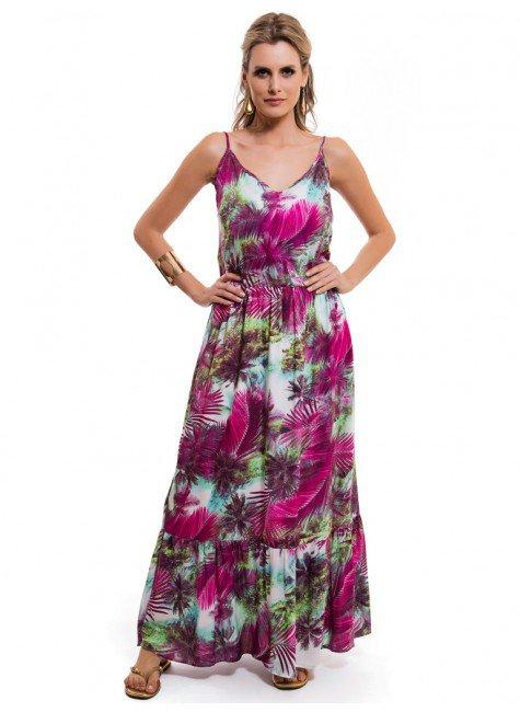 vestido longo estampado principessa soraia elastico contura look