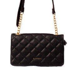 bolsa feminina preta pequena tiracolo
