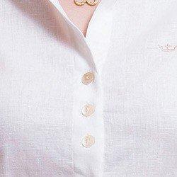 camias de linho feminina principessa paloma detalhe madre perola triplo