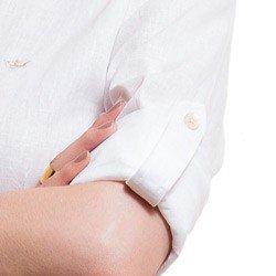 camias de linho feminina principessa paloma detalhe martingale