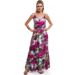 vestido longo floral principessa soraia leve fluido verao