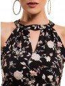 vestido floral preto principessa ana laura decote