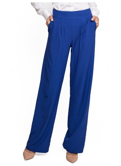 calca pantalona feminina azul royal principessa greci look