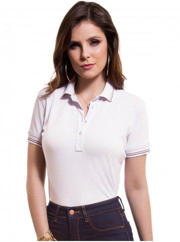 camisa polo branca feminina principessa kerin look