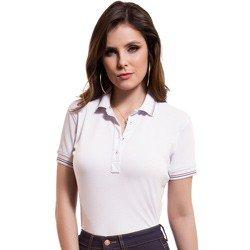 camisa polo branca feminina principessa kerin detalhes look