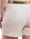 shorts linho social feminino principessa rosaura bolso costa