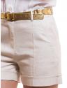 shorts linho social feminino principessa rosaura bolso faca