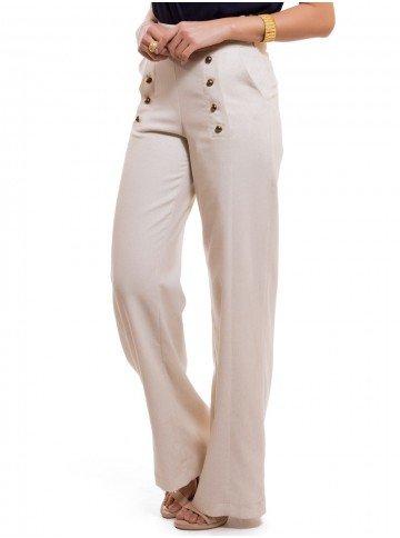 calca pantalona de linho principessa neusa look