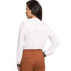 camisa aplicacao corrente punho off white principessa dirlene look completo modelagem