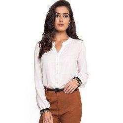 camisa aplicacao corrente punho off white principessa dirlene look detalhe