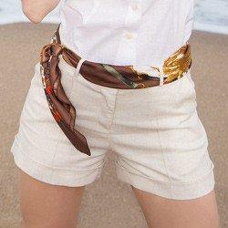 shorts social de linho principessa rosaura detalhe conceito
