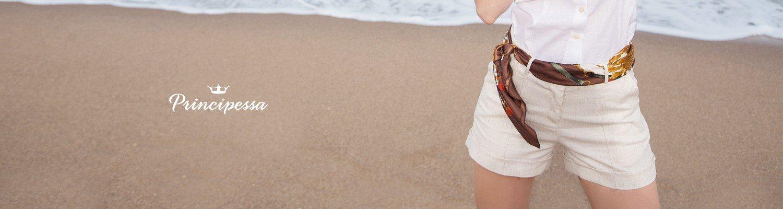shorts social de linho principessa rosaura banner conceito