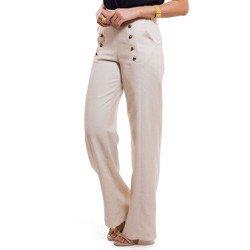 calca pantalona de linho principessa neusa detalhes tecido leve