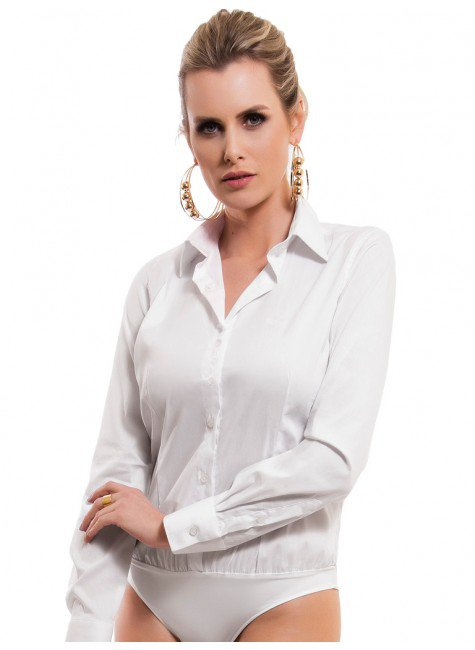 camisa social body branca principessa paola look