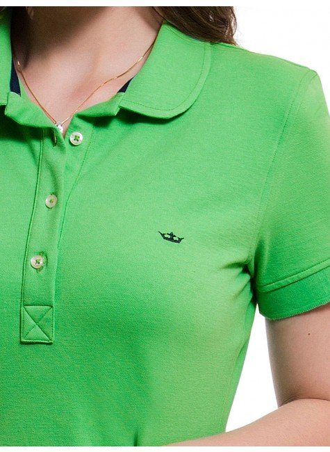 ... camisa polo feminina verde principessa ariel 91d2cfb0ce65f