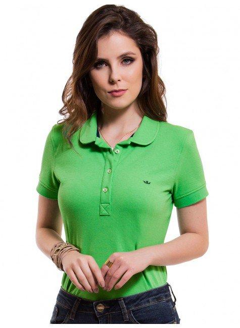 camisa polo feminina verde principessa ariel look 97cb09e6803f6