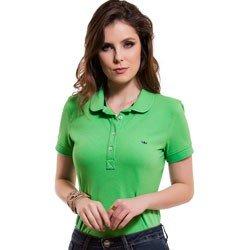 camisa polo feminina verde principessa ariel detalhes look