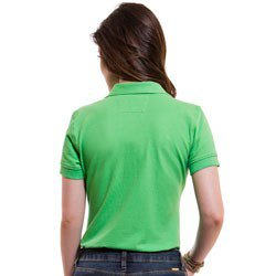 camisa polo feminina verde principessa ariel detalhes look costa