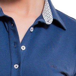 vestido polo azul jeans principessa brenda detalhe colarinho