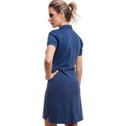 vestido polo azul jeans principessa brenda detalhe look costa
