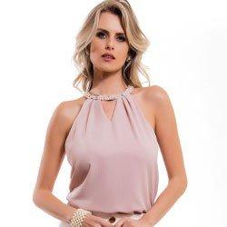 regata feminina nude pedraria gola principessa clarissa detalhe modelage