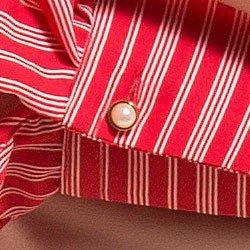 blusa feminina listrada gola de laco principessa noelise detalhe botao