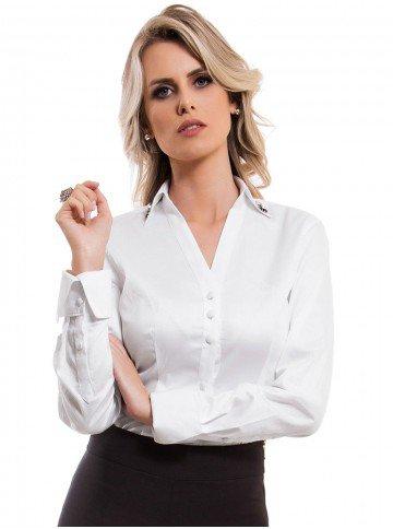 Camisa Feminina Branca Principessa Allana