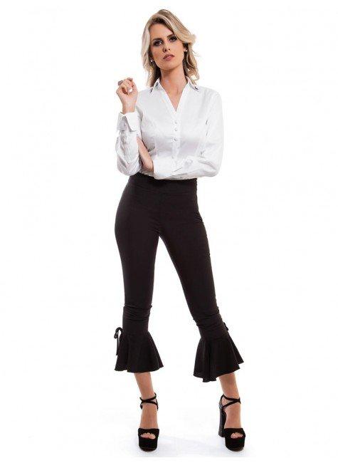 1938a26f3c ... camisa social feminina branca principessa allana botao forrado look  completo ...