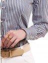 camisa feminina listrada premium principessa luiza punho