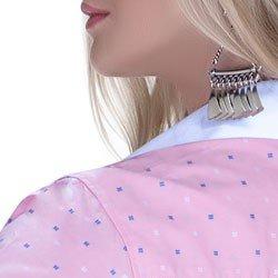 camisa premium principessa leticia maquinetado detalhe acabamento